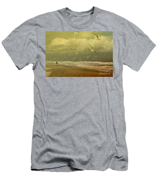 Terns In The Clouds Men's T-Shirt (Slim Fit) by Deborah Benoit