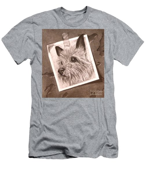 Terrier As Optical Illusion Men's T-Shirt (Athletic Fit)