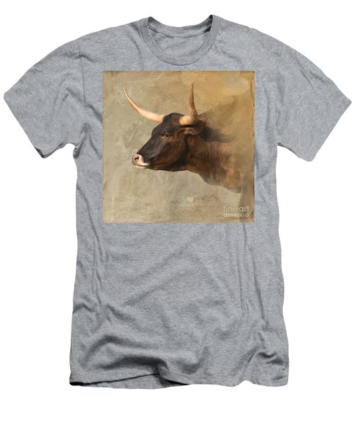 Texas Longhorn # 3 Men's T-Shirt (Athletic Fit)