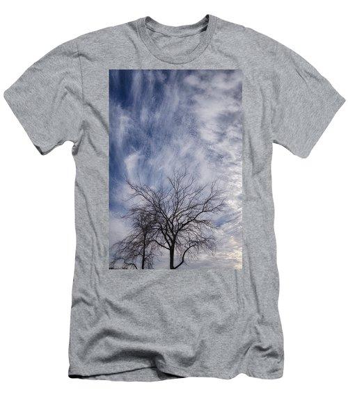 Texas Winter Clouds Men's T-Shirt (Athletic Fit)