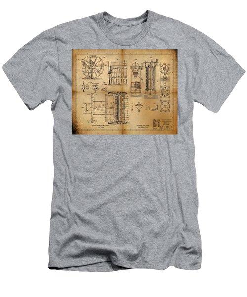 Textile Machine Men's T-Shirt (Slim Fit) by James Christopher Hill