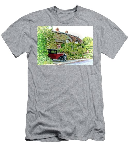 Thatched Cottages At Reybridge Men's T-Shirt (Athletic Fit)