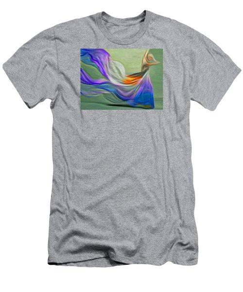 Men's T-Shirt (Slim Fit) featuring the digital art The Art Of Dance by Nina Bradica