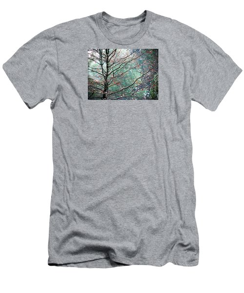 Men's T-Shirt (Slim Fit) featuring the photograph The Aura Of Trees by Angela Davies