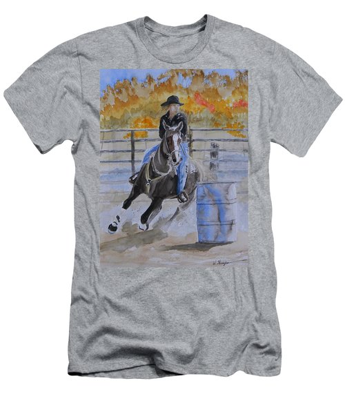 The Barrel Race Men's T-Shirt (Athletic Fit)