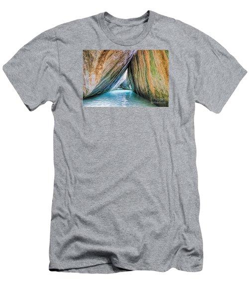 The Baths Virgin Gorda British Virgin Islands Men's T-Shirt (Athletic Fit)