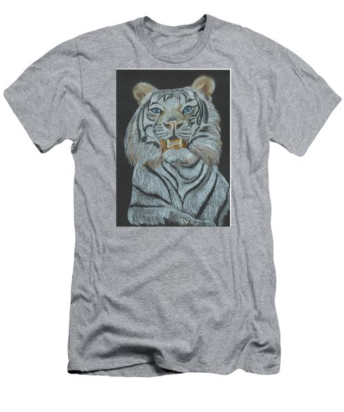 Men's T-Shirt (Slim Fit) featuring the pastel The Bengal by Carol Wisniewski