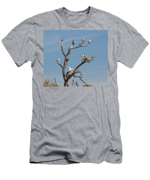 Men's T-Shirt (Slim Fit) featuring the photograph The Bird Tree by John M Bailey
