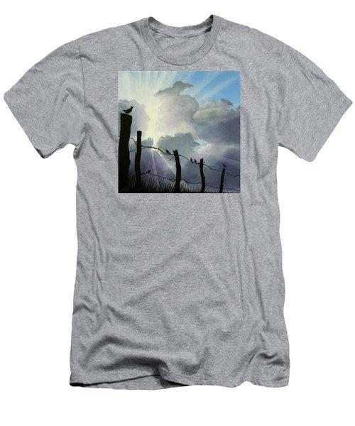 The Birds - Make A Joyful Noise Men's T-Shirt (Slim Fit) by Jack Malloch