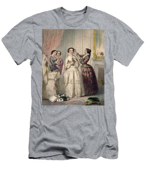 The Bride, Engraved By J. Battannier, 1852-53 Colour Litho Men's T-Shirt (Athletic Fit)