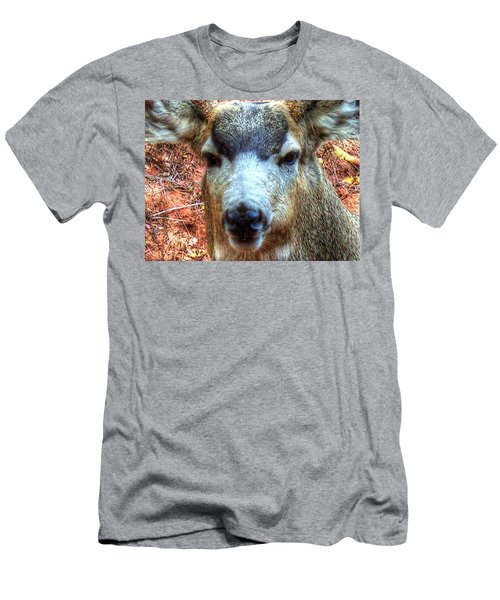 Men's T-Shirt (Slim Fit) featuring the photograph The Buck II by Lanita Williams