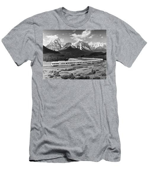 the Canadian Train Men's T-Shirt (Athletic Fit)