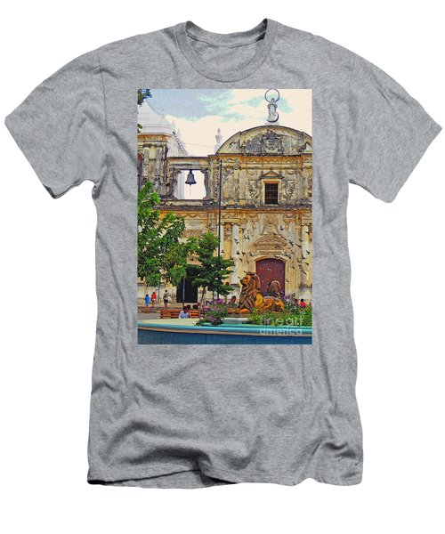 The Cathedral Of Leon Men's T-Shirt (Slim Fit) by Lydia Holly