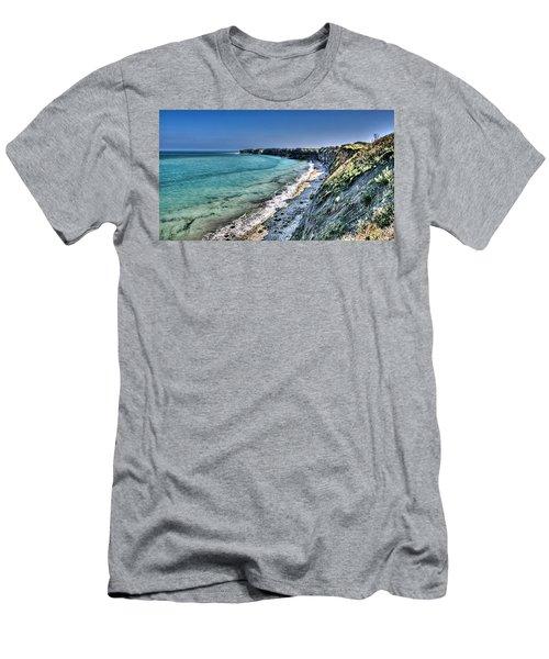 The Cliffs Of Pointe Du Hoc Men's T-Shirt (Athletic Fit)