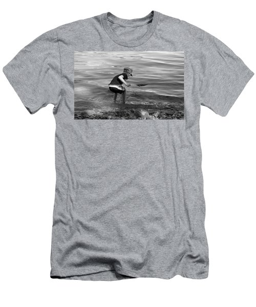 Men's T-Shirt (Slim Fit) featuring the photograph  The Collector by Debbie Oppermann