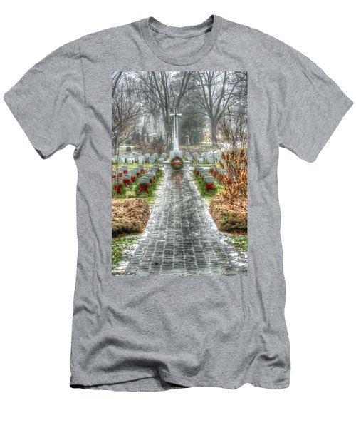 The Cross Of Sacrifice Men's T-Shirt (Athletic Fit)