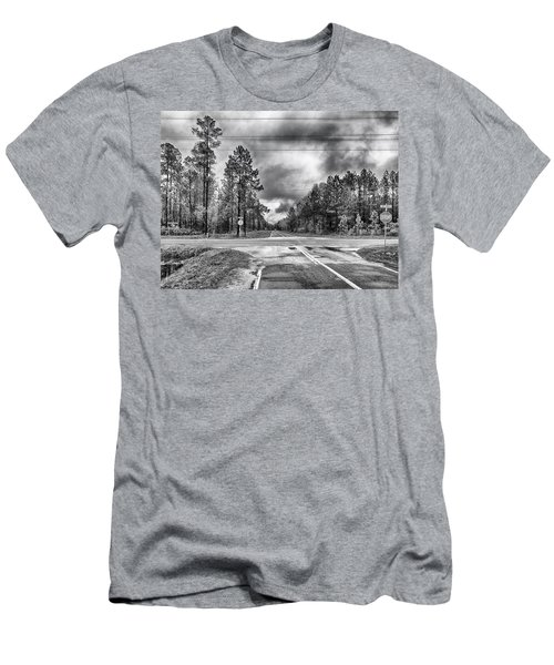 Men's T-Shirt (Athletic Fit) featuring the photograph The Crossroads by Howard Salmon