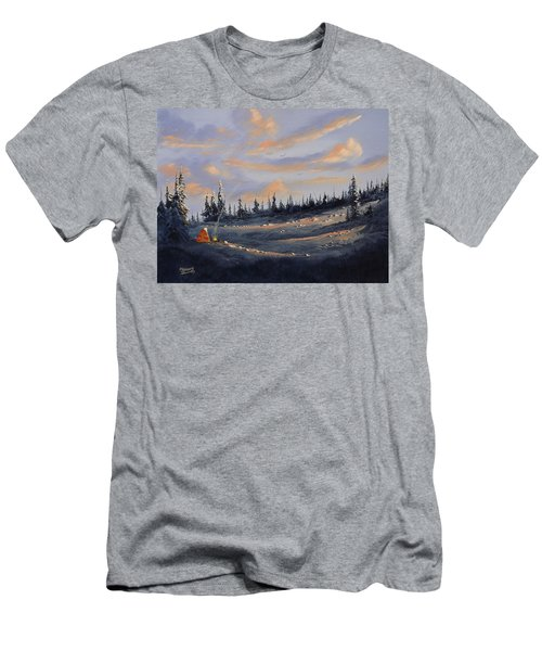 Men's T-Shirt (Slim Fit) featuring the painting The Days End by Richard Faulkner