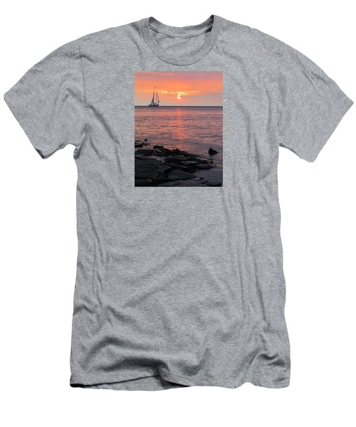 The Edith Becker Sunset Cruise Men's T-Shirt (Slim Fit) by David T Wilkinson