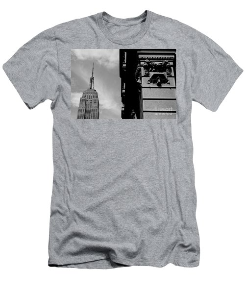 Men's T-Shirt (Slim Fit) featuring the photograph The Empire State Building by Steven Macanka