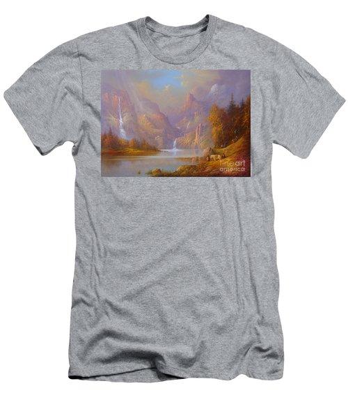 The Fellowship Doors Of Durin Moria.  Men's T-Shirt (Slim Fit) by Joe  Gilronan