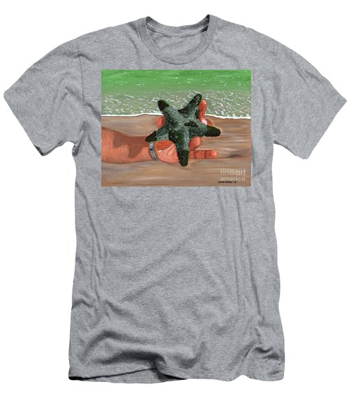Men's T-Shirt (Slim Fit) featuring the painting The Find by Laura Forde