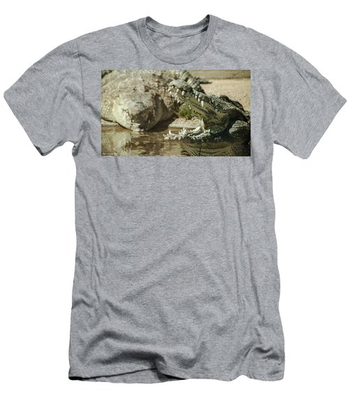Men's T-Shirt (Athletic Fit) featuring the photograph The Fool Crocodile by Stwayne Keubrick