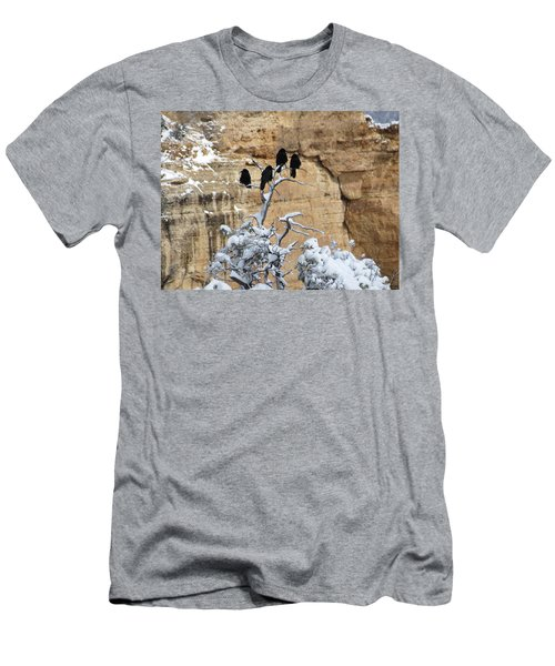 Men's T-Shirt (Slim Fit) featuring the photograph The Four Crows by Laurel Powell