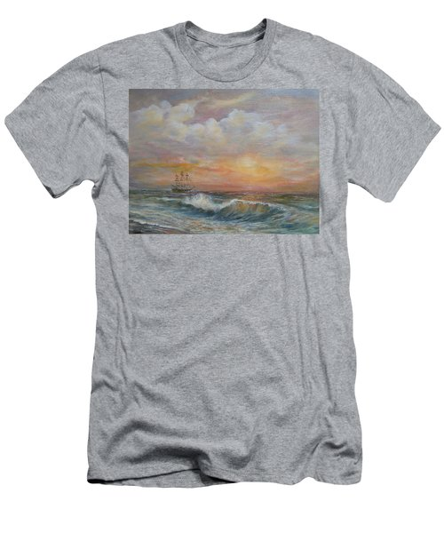 Sunlit  Frigate Men's T-Shirt (Athletic Fit)