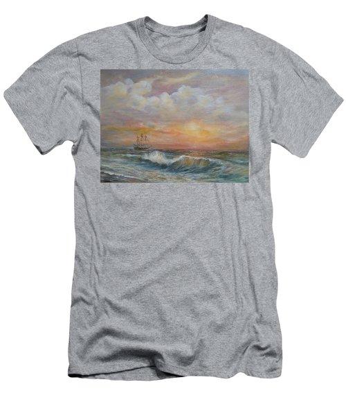 Sunlit  Frigate Men's T-Shirt (Athletic Fit)