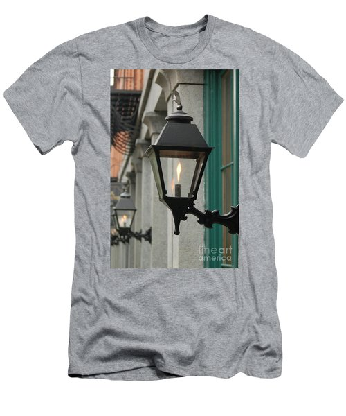 Men's T-Shirt (Slim Fit) featuring the photograph The Gas Light by Patrick Shupert