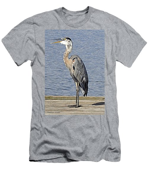 The Great Blue Heron Photo Men's T-Shirt (Athletic Fit)