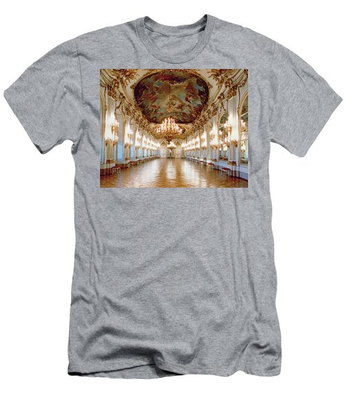 The Great Gallery Showing The Rococo Decorative Scheme Of Gilded Ornamental Framework And White Men's T-Shirt (Athletic Fit)