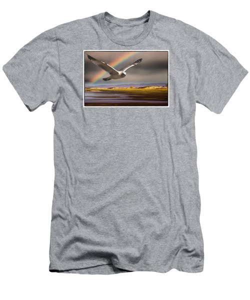 The Gull And The Rainbow Men's T-Shirt (Slim Fit) by Janis Knight