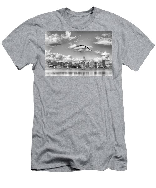 Men's T-Shirt (Athletic Fit) featuring the photograph The Gull by Howard Salmon