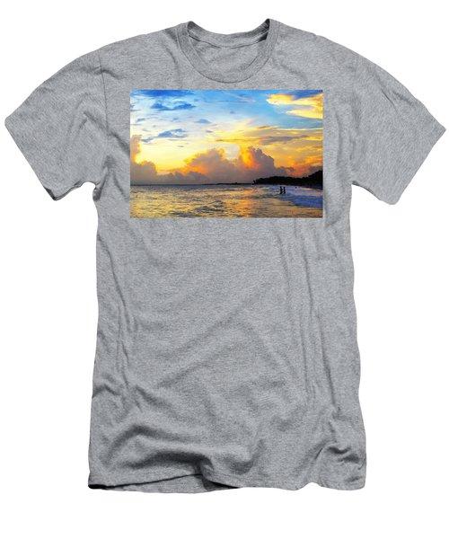 The Honeymoon - Sunset Art By Sharon Cummings Men's T-Shirt (Athletic Fit)