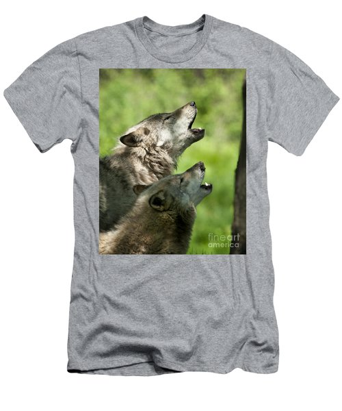 Men's T-Shirt (Slim Fit) featuring the photograph The Howling by Wolves Only