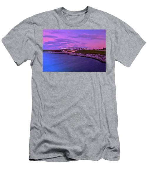 The Lonely Bridge Men's T-Shirt (Slim Fit) by Jonah  Anderson