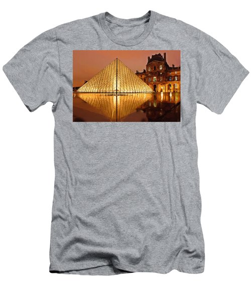 The Louvre By Night Men's T-Shirt (Athletic Fit)