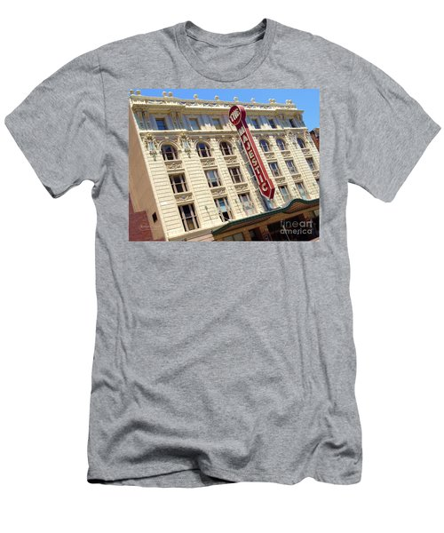 Men's T-Shirt (Slim Fit) featuring the photograph The Majestic Theater Dallas #1 by Robert ONeil