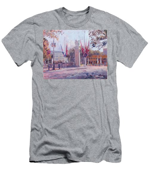 The Mall Oil On Canvas Men's T-Shirt (Athletic Fit)