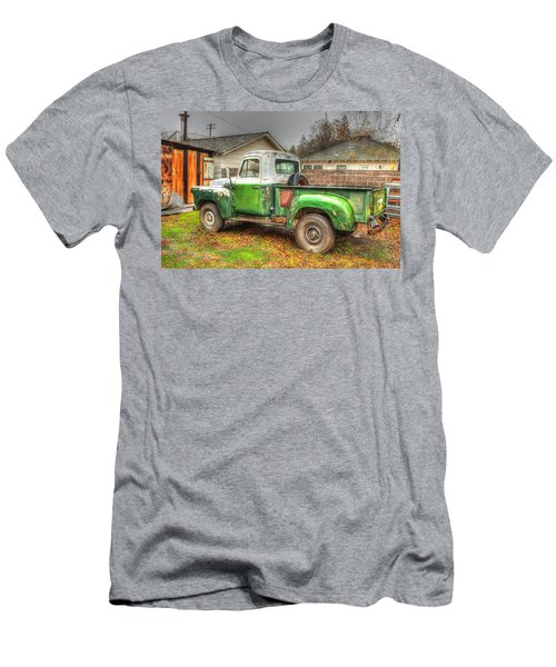 Men's T-Shirt (Slim Fit) featuring the photograph The Old Green Truck by Jim Thompson