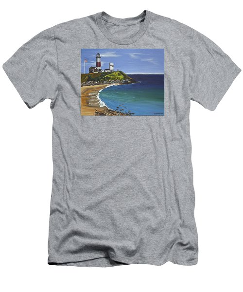 The Point Men's T-Shirt (Slim Fit) by Donna Blossom