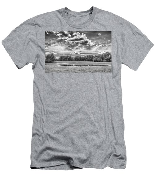 Men's T-Shirt (Athletic Fit) featuring the photograph The Pond by Howard Salmon