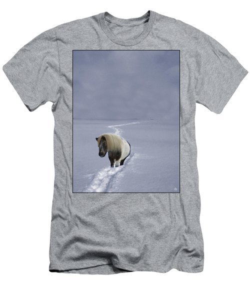 Men's T-Shirt (Athletic Fit) featuring the photograph The Ponys Trail by Wayne King