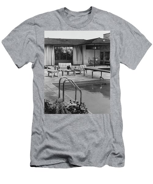 The Pool And Pavilion Of A House Men's T-Shirt (Athletic Fit)