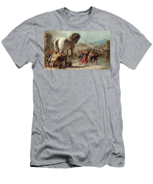 The Procession Of The Trojan Horse Into Troy Men's T-Shirt (Athletic Fit)