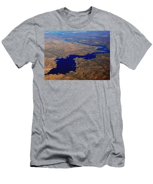 Men's T-Shirt (Slim Fit) featuring the photograph The River Winds by Natalie Ortiz