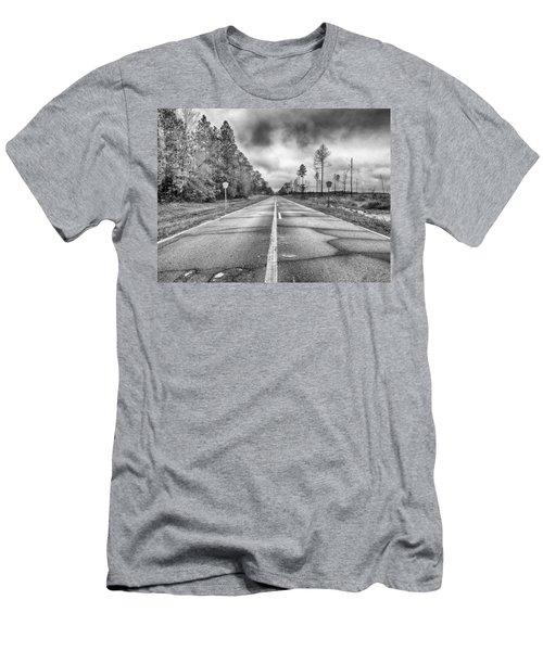 The Road Less Traveled Men's T-Shirt (Slim Fit) by Howard Salmon