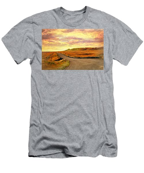 Men's T-Shirt (Slim Fit) featuring the photograph The Road Less Trraveled Sunset by Marty Koch